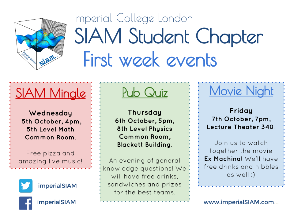 Welcome back! – Imperial College London SIAM Student Chapter
